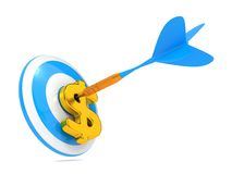 Dart And Dollar. Business Concept. Stock Photography