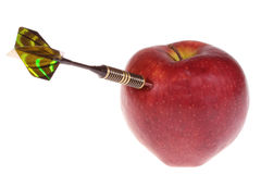 Dart and apple Royalty Free Stock Photography