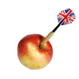 Dart and apple on a white Royalty Free Stock Images