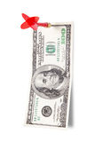 Dart Arrow and Dollar Bill Stock Photo