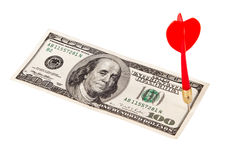 Dart Arrow and Dollar Bill Royalty Free Stock Photo