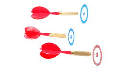 Dart arrow hit the target Stock Photo
