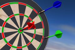 a dart arrow Stock Photo