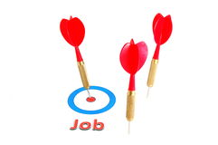 Dart arrow job concept Stock Images