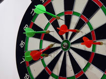 Dart. The arrow shots to keep the target Royalty Free Stock Photography