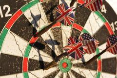 Dart arrows closeup Royalty Free Stock Image