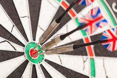 Dart arrows dartboard Stock Photo