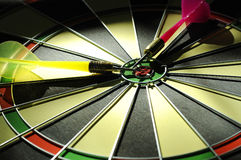 Dart Arrows On The Dartboard Stock Image