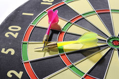 Dart Arrows On The Dartboard Royalty Free Stock Photo