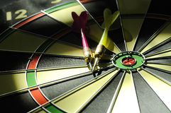 Dart Arrows On The Dartboard Royalty Free Stock Image