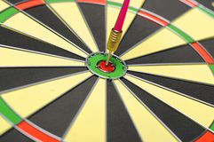 Dart Arrows In The Target Royalty Free Stock Photos