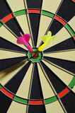 Dart Arrows In The Target Stock Photo