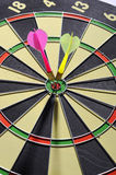 Dart Arrows In The Target Royalty Free Stock Photo