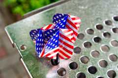 Dart arrows with a the USA flag Royalty Free Stock Photo
