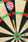 Dart on board Royalty Free Stock Photo