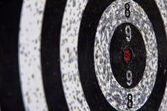 Dart board. Close up old dart board Stock Photo