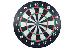 Dart board. Isolated over a white background Stock Photos