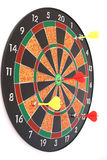 Dart Board. With arrows on the white background Royalty Free Stock Image