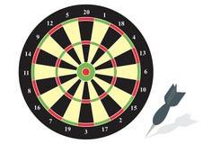 Dart board. Illustration of a dart board with an arrow Stock Photo