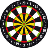 Dart board. Vectorial illustration of dart board on white background royalty free illustration