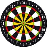 Dart board. Vectorial illustration of dart board on white background Royalty Free Illustration