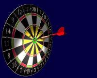 Dart board. 3d illustration of dart board on blue background royalty free illustration