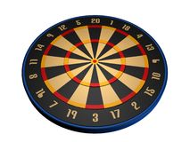 Dart board. 3d model dart board Royalty Free Stock Photo