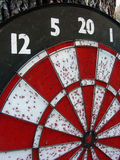 Dart Board. A well used dart board royalty free stock image
