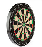 Dart board. Isolated on white Stock Photography