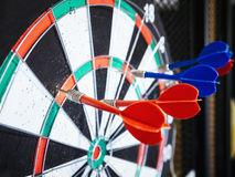 Dart board with Arrows Target Goal achievement concept. Dart board with Arrows Target Goal achievement Business concept Background Stock Images