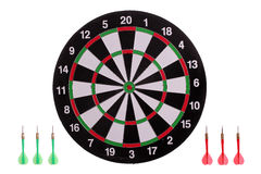 Dart board with arrows Royalty Free Stock Photos