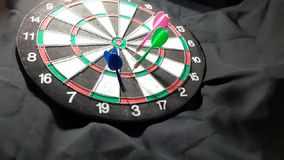 dart board stock video footage