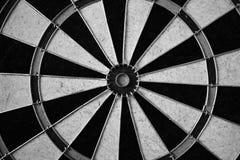 Dart board in black and white