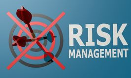 Dart board blue risk management. Image with hi-res rendered artwork that could be used for any graphic design Stock Images