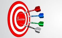 Dart board business solutions concept. stock illustration