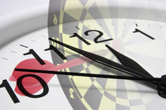 Dart Board and Clock Stock Photos