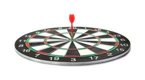 Dart board with arrow hitting target. Dart board with color arrow hitting target royalty free stock images