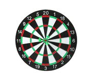 Dart board with arrows hitting target. Dart board with color arrows hitting target stock photos