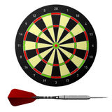 Dart board with dart. Vector dart with dart board Royalty Free Stock Photo