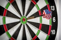 Dart board with dart arrow Royalty Free Stock Photos
