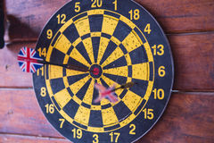 Dart board with dart arrow. focus on target business concept . Dart board with dart arrow. focus on target business concept Royalty Free Stock Images