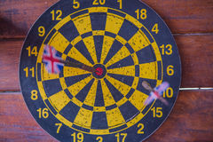 Dart board with dart arrow. focus on target business concept . Dart board with dart arrow. focus on target business concept Stock Photo