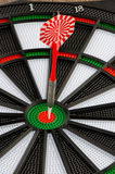 Dart board with dart Stock Photos