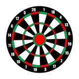 Dart board. Dart target  on white. Vector illustration Stock Images
