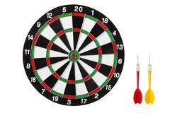 dart board and darts Royalty Free Stock Images