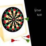 Dart board with darts Royalty Free Stock Photos