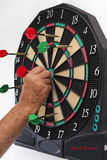 Dart Board with Darts Stock Image