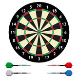 Dart board with darts. Stock Photography