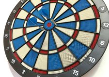 Dart Board with Darts Stock Photo