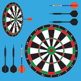 Dart board and darts Stock Images